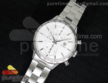 Carrera CAL1887 Chronograph SS White Dial