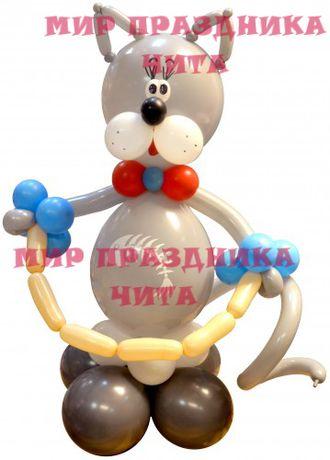 кот из шаров фото