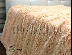 Бамбуковый плед экстра-класса Светло-песочный 160х210