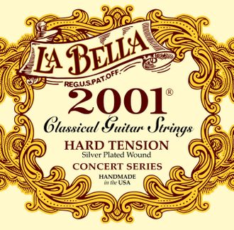 Струны нейлоновые La Bella Classical Guitar Strings 2001 Hard Tension