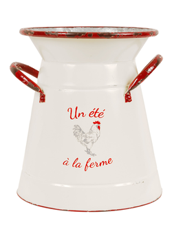 Кувшин 200224 DECO POT FONTNEL BLC+ROUGE