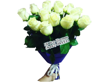 Букет Завораживающий белый (15 роз)