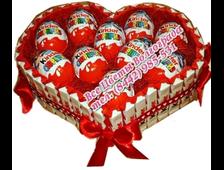 Сердечко из Киндеров Сладкое признание