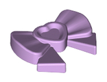 Friends Accessories Hair Decoration, Bow with Heart, Long Ribbon and Pin, Lavender (11618 / 6023826)