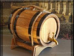 Дубовая бочка 5 литров колотый дуб