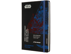 Блокнот Moleskine Star Wars Falcon, Large, в линию, чёрный