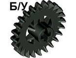 ! Б/У - Technic, Gear 24 Tooth Crown  1st Version - Not Reinforced , Black (3650a) - Б/У