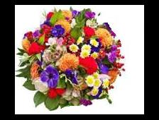 Корзина цветов Радужное Счастье