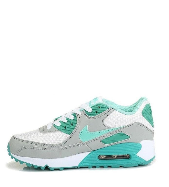 35f5c541 Nike Air Max 90 женские серо-бирюзовые (36-40) арт-020