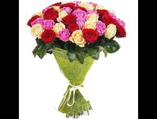 43 розовой розы