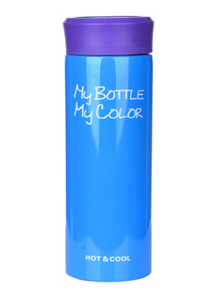 Термос My bottle My color синий,  330 мл, арт. HS-6605