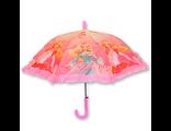 Детский зонт автомат для девочки с рюшей Барби