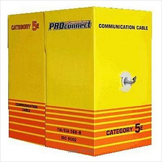 Кабель UTP CAT5e  4 пары (305м)  24AWG OUTDOOR Proconnect (01-0054)