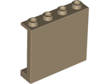 Panel 1 x 4 x 3 with Side Supports - Hollow Studs, Dark Tan (60581 / 6001833)