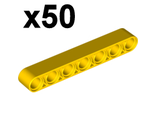Technic, Liftarm 1 x 7 Thick,x50, Yellow (32524 / 4495934)