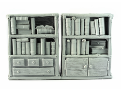 Librarian's bookshelves (unpainted)
