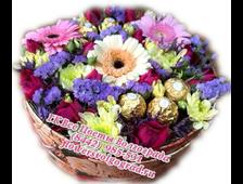 Полевые цветы с Ферерро в шляпной коробке