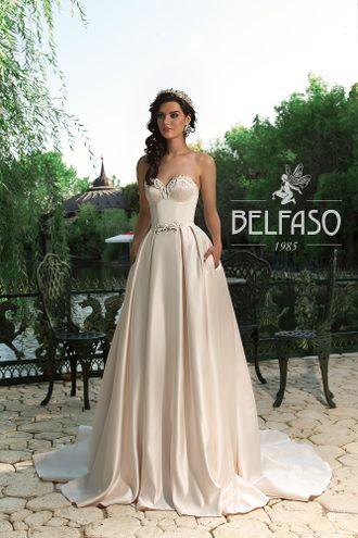 4a2196da870 Свадебное сливочно-бежевое платье