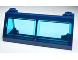 Windscreen 2 x 6 x 2 Train with Trans-Light Blue Glass, Dark Blue (6567c03 / 6018430)