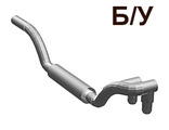 ! Б/У - Vehicle, Exhaust Pipe Twin Inlet 11L Right, Chrome Silver (4467) - Б/У