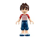 Friends Noah, Dark Blue Cropped Trousers, Red and White Striped Top, n/a (frnd093)