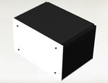 Корпус для транзисторного усилителя высотой 6U с боковыми радиаторами