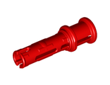 Technic, Pin 3L with Friction Ridges Lengthwise and Stop Bush, Red (32054 / 4140806)