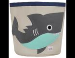 Корзина для хранения 3 Sprouts Акула Grey Shark