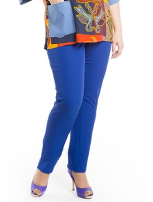 Стильные зауженные брюки 350 -Lux (электрик) Размеры: 54-70. ТМ Лакшери