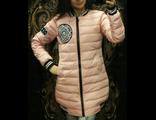 Женская весенняя куртка персиковая 002-111