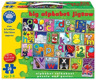 Big alphabet jigsaw puzzle and poster