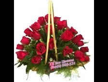 35 красных роз в корзине Пиканто
