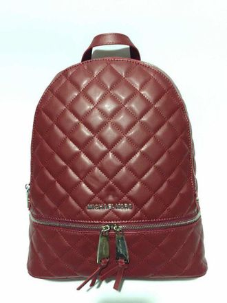 Рюкзак Michael Kors Rhea Quilted Large Bordo / Бордовый