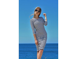Платье-футляр в морском стиле