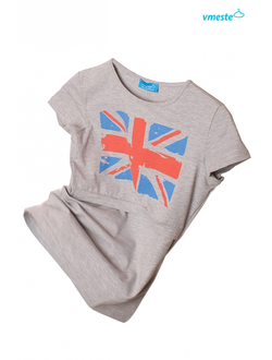 Grey t-shirt with Union Jack