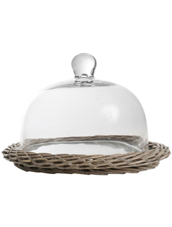 Клош  BELL JOSEPHINE NATURAL D27XH16CM WILLOW+GLASS 29936