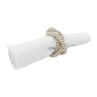 Кольцо для салфетки NAPKIN RING CORD PERLIA WHITE D4CM GLASS+PLASTIC 33005