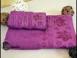 Бамбуковое полотенце спорт класс 48х98 Фиолетовый Клен