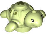 Turtle Baby, Friends with Black Eyes and Olive Green Spots Pattern, Yellowish Green (49576pb01 / 6259896)