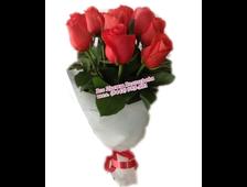 5-7-9 роз из ассортимента алые