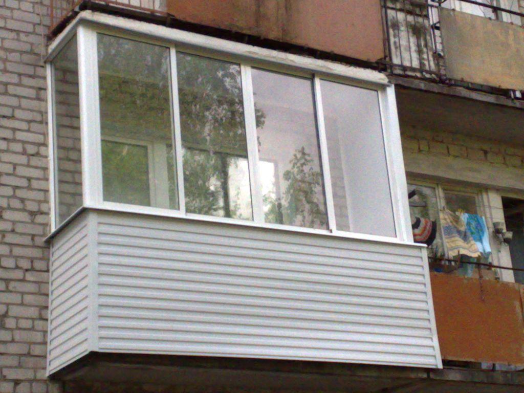 Стоимость остекления балкона алюминиевым профилем..