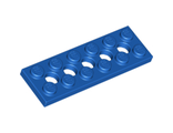 Technic, Plate 2 x 6 with 5 Holes, Blue (32001 / 4114027)