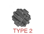 Technic, Gear 8 Tooth Type 2, Dark Bluish Gray (10928 / 6012451)