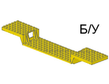 ! Б/У - Train Base 6 x 34 Split-Level with Bottom Tubes, Yellow (2972) - Б/У