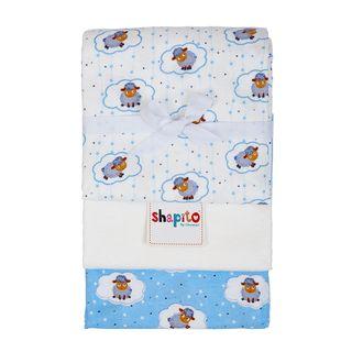 Комплект детских пеленок фланель Shapito by Giovanni 3 шт ОВЕЧКИ