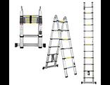 телескопическая алюминиевая лестница-стремянка