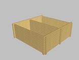 Сруб бани 6х6 (5-стен) из ОЦБ 20см