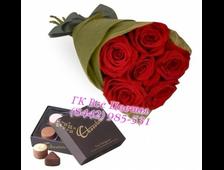Букет 7 роз Красный