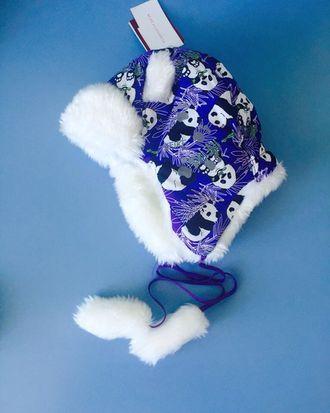 Теплая зимняя шапка-ушанка Reike цвет Purple Panda