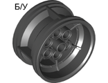 ! Б/У - Wheel 43.2mm D. x 26mm Technic Racing Small, 6 Pin Holes, Black (56908 / 4644088 / 6078892) - Б/У